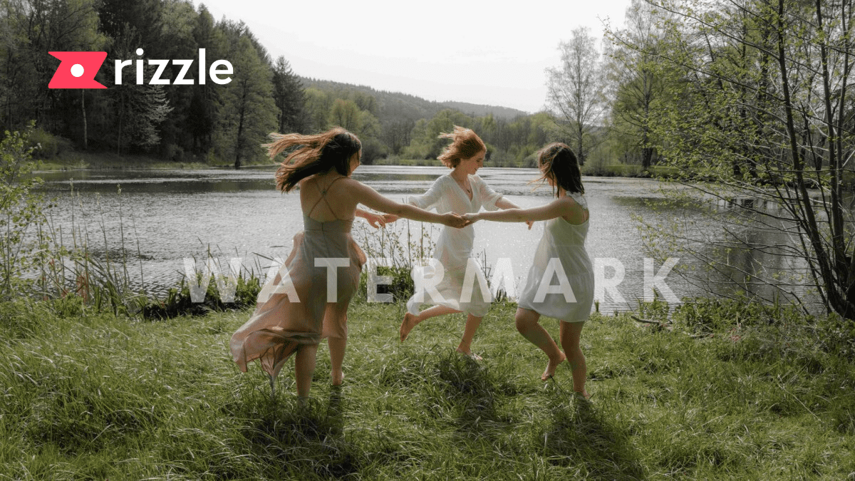 learn about a watermark on rizzle